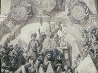 immagine di Disegno per un dipinto allegorico su soffitto