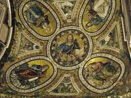 immagine di Gesù Benedicente attorniato dagli Evangelisti