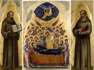 immagine di Dormitio Virginis e i santi Francesco e Antonio da Padova