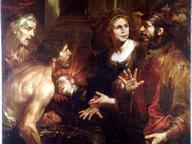 immagine di Servio Tullio con le chiome in fiamme