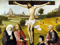 immagine di Hieronymus Bosch, La Crocifissione con donatore
