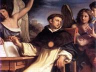 immagine di San Tommaso scrive l'Inno del SS. Sacramento