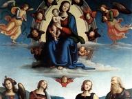 immagine di Madonna col Bambino in gloria e i Santi Giovanni Evangelista, Apollonia, Caterina d'Alessandria e Michele Arcangelo