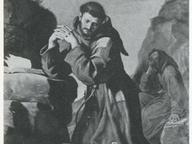 immagine di San Francesco che adora il Crocifisso