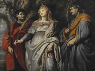 immagine di Vergine col Bambino e i Santi Gregorio Magno, Mauro, Papia, Domitilla, Nereo e Achìlleo