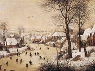 immagine di Pieter Bruegel Il Vecchio, Paesaggio invernale con pattinatori e trappola per uccelli