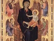 immagine di Madonna con Bambino in trono e angeli