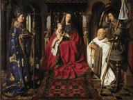 immagine di Jan van Eyck, Madonna con il Canonico van der Paele