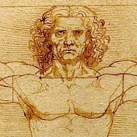 A Venezia l'Uomo Vitruviano e altri disegni di Leonardo Da Vinci