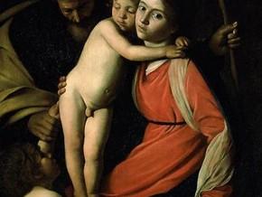 immagine di Sacra Famiglia con San Giovanni Battista