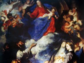 immagine di Madonna del Rosario e santi
