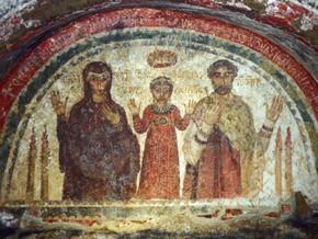 immagine di San Gennaro e le defunte Nicaziola e Cominia
