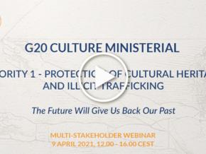 G20 Cultura - Ciclo di webinar del MiC sulla protezione del patrimonio culturale