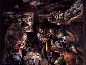 immagine di Adorazione dei Pastori e Battesimo di Cristo