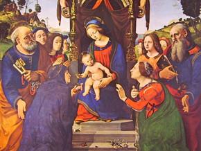 immagine di Madonna col Bambino, santi e angeli