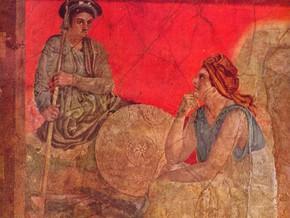 immagine di Affresco raffigurante un principe macedone con un filosofo