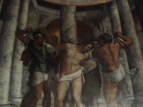immagine di Flagellazione e i Santi Pietro e Francesco
