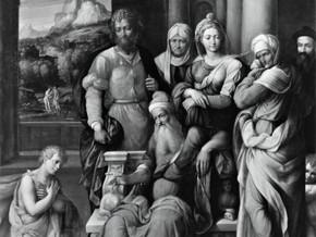 immagine di San Giovanni Battista si accomiata dal Padre