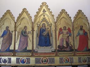 immagine di Polittico con la Madonna in trono e santi