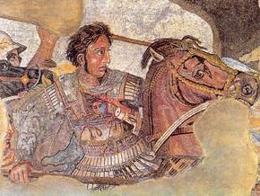 immagine di Alessandro Magno che combatte contro Dario III a Isso