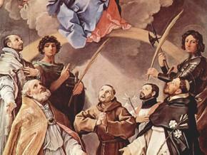 immagine di Pala della peste - Madonna col Bambino in gloria e i santi Petronio, Francesco, Ignazio, Francesco Saverio, Procolo e Floriano