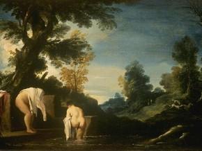 immagine di Paesaggio con donne bagnanti