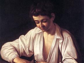 immagine di Fanciullo che monda una pera