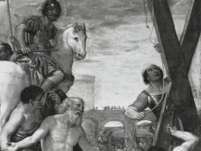 immagine di Sant'Andrea adora la croce del suo martirio