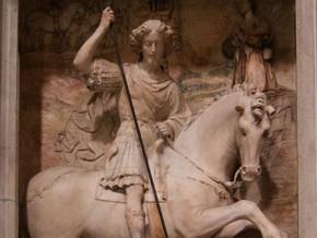immagine di San Giorgio che uccide il drago
