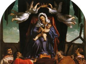 immagine di Madonna con il Bambino e i santi Giacomo Maggiore, Andrea, Cosma e Damiano