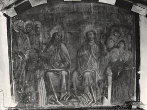 immagine di San Domenico che ritrova i suoi frati in Paradiso