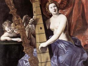 immagine di Venere suona l'Arpa (Allegoria della Musica)
