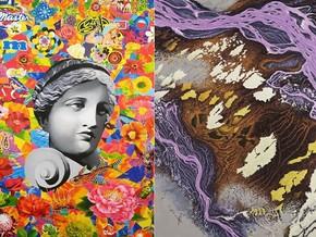 Felipe Cardeña. Fiori dipinti da me e da altri al 201% / Andrea Zucchi. Impressioni Satellitari