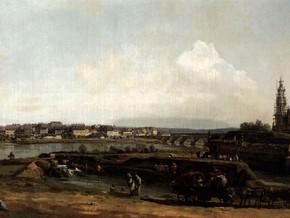 immagine di Dresda dalla riva sinistra dell'Elba