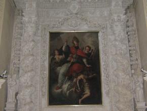 immagine di Sant'Oronzo in gloria che protegge Lecce