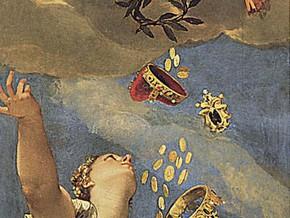 immagine di Venezia riceve da Giunone il corno ducale