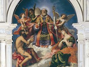 immagine di San Nicola in Gloria e Santi