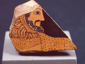 immagine di Frammento di vaso con Testa di Eracle