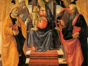 immagine di Madonna in trono con Bambino e santi