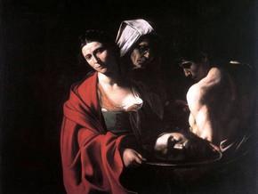 immagine di Salomè con la testa del Battista