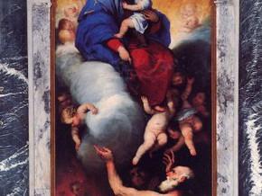 immagine di Madonna con Bambino e anime purganti