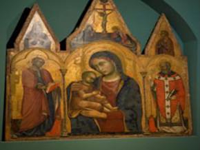 immagine di Madonna con Bambino fra Santa Caterina d'Alessandria e San Nicola di Bari