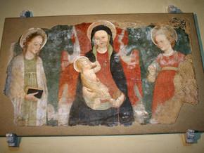 immagine di Madonna fra due sante