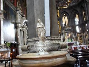 immagine di Acquasantiere con San Giovanni Battista e San Zaccaria