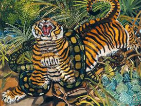 immagine di Tigre con Serpente