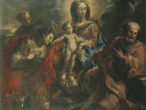 immagine di Sacra Famiglia e Sant'Antonio da Padova