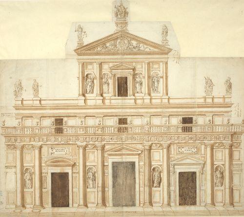 Giuliano da Sangallo, Progetto per San Lorenzo a Firenze, Gallerie degli Uffizi, Gabinetto dei Disegni e delle Stampe
