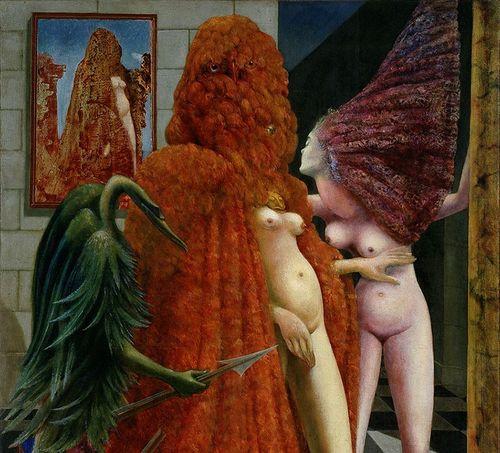 Max Ernst, La vestizione della sposa (La Toilette de la mariée), 1940. Olio su tela, 129,6x96,3 cm. Collezione Peggy Guggenheim, Venezia (Fondazione Solomon R. Guggenheim, New York) 76.2553 PG 78