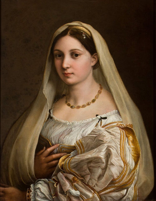 Raffaello,<em> La Velata</em>, 1516 circa, Olio su tela,&nbsp; 60.5 x&nbsp;82 cm, Galleria Palatina, Palazzo Pitti, Firenze