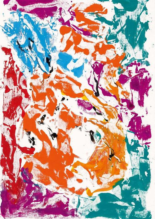 Georg Baselitz, Archinto lacht (Archinto ride), 2020. Olio su tela, 233x163 cm. I Ph. Jochen Littkemann, Berlino